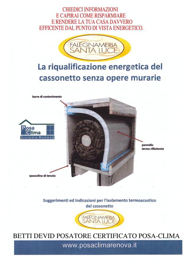 Riqualificazione energetica del cassonetto con il riconoscimento CasaClima