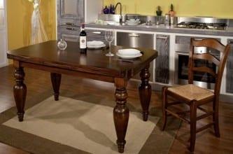 Tavolo Brunello con sedia mod. Crete e Filari